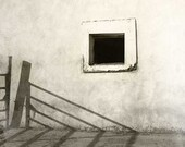 Monochromatic photography window photo empty space fine art black and white print sepia color monochrome pallet - 8x10 photograph