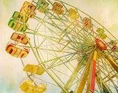 Carnival Art For Nursery Photography, carnival prints, children's wall art, Ferris wheel, large art, circus prints, custom sizes