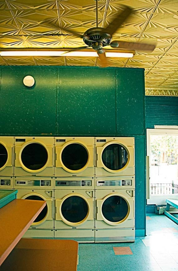 Retro Laundromat - Fine Art Photograph - 8x12