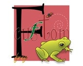 RESERVED   for BellaEtBisou. Custom stationery with Frog