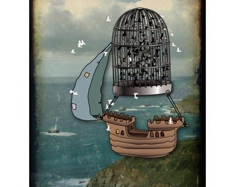 a pirate dreams of flying 8x10 limited edition print