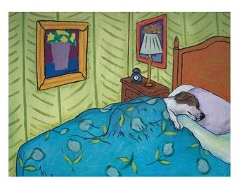 Jack Russell Terrier , jrt, bedroom wall art, 11x14 print, jack russell print, gift, modern, folk, abstract, dog art, dog print, wall art