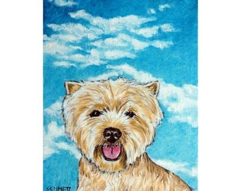 West Highland White Terrier With the Sky Dog Art Print