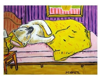 Polar Bear Sleeping Art Print bedroom JSCHMETZ pop art modern abstract folk folk  gift 11x14