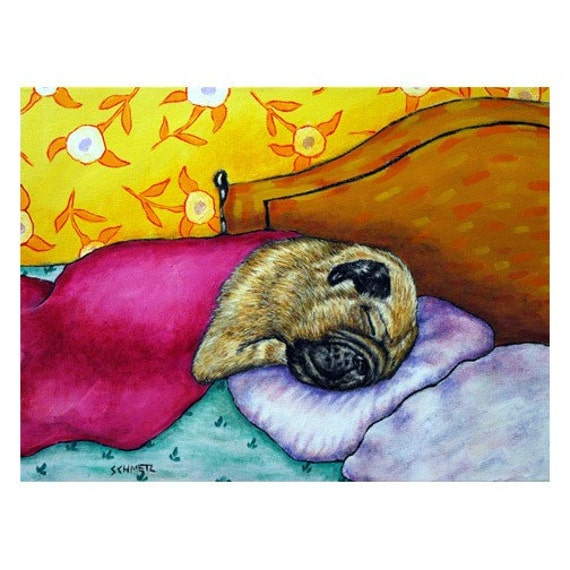 PUG Pug Art Pug Print 11x14 Bedroom Art Decor