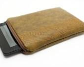 Kindle Case Sleeve - Bottle Green Woodgrain for Kindle Fire Gadget Bag