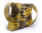 Everyday Bag Pleated Purse, Yellow and Gray