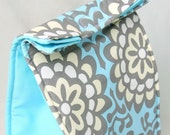 Insulated Lunch Bag - Blue Wallflower