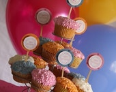 Cupcake Toppers from THE POLKADOT COLLECTION for GIRLS