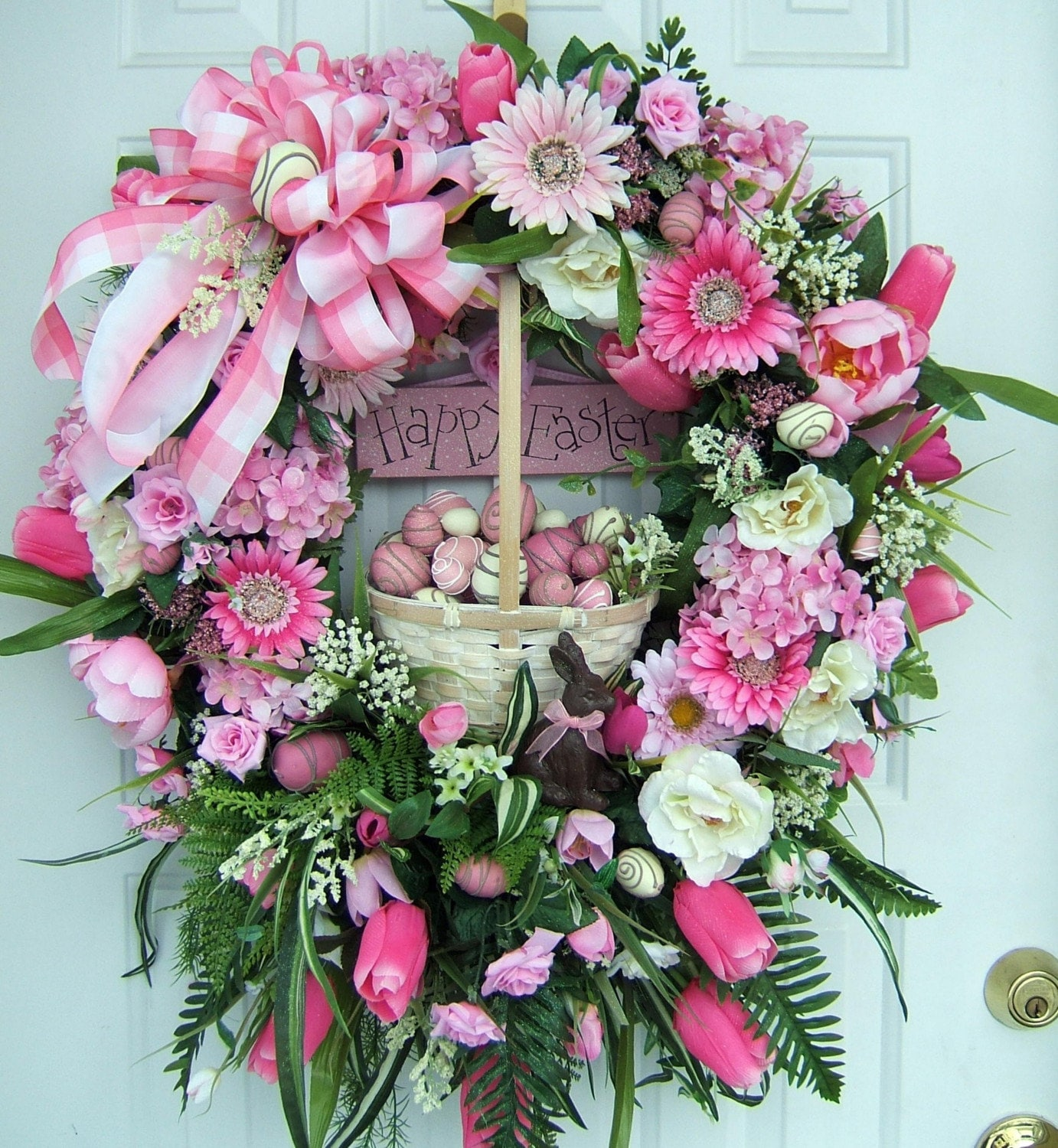 Xl Beautiful Easter Wreath Spring Floral By Wreathsbykimberly