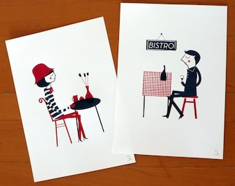 Parisiens set of two prints