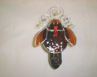 Turkey Night light - Stained Glass Night light - Turkey Nightlight - Thanksgiving Night light