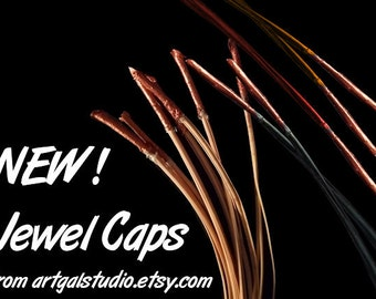 NEW - JEWEL CAPS - Metallic  Pine Needle Caps for Embellished Pine Needle Baskets and Gourd Crafts
