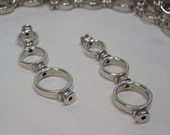 1 Pair of Triple Curved Bead Frame in Sterling Silver