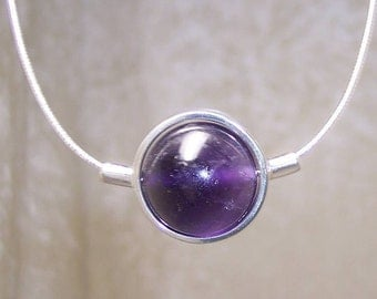 AMETHYST Stone Sphere Necklace
