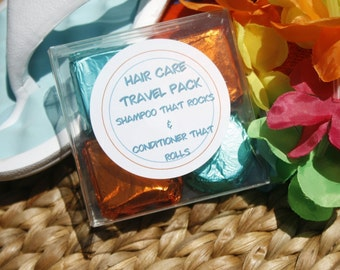 Solid Hair Care Bars Travel Pack