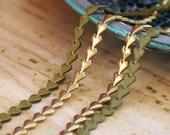 Heart Strings Earrings - Extra Long - Olive