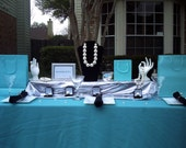 Breakfast at Tiffany's  Bridal/ Baby Shower Tablescape kit