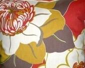 "2 18""Contemporary Pomegranate Raspberry Green Brown Cream Flower Designer Pillowcases,Cushion Covers,Pillows,Pillow Slips,NEW FABRIC"