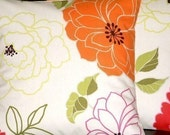 """2 18"""" New Contemporary Orange Green Pink Funky Designer Retro Pillowcases,Cushion Covers,Pillow Covers,Pillow"""