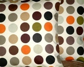 """2 x 16"""" Orange Brown Black Green Gray Spots Print Design Funky Retro Pillowcases,Cushion Covers,Pillow Covers,Throw Pillow,NEW FABRIC"""