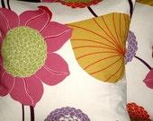 "2 x 18"" Pink Lavender Flower Print Design Contemporary Designer Retro Pillowcases,Cushion Covers,Pillow Covers,Throw Pillow"