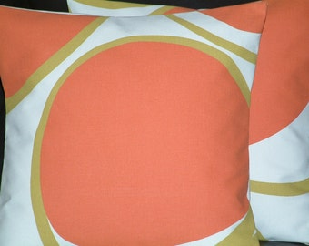 "2x 16"" Mandarin Orange Spots Funky Designer Retro Pillowcases,Cushion Covers,Pillow Covers,Pillow"