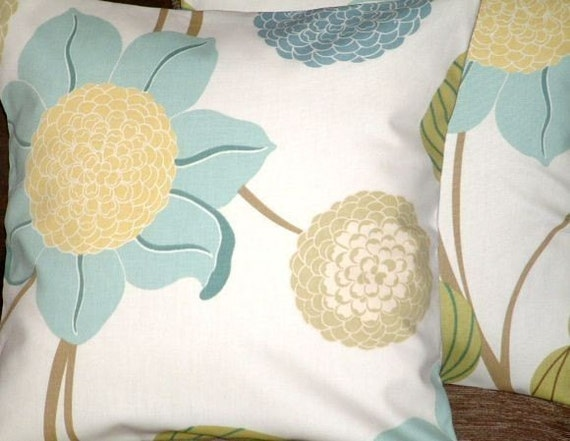 "2 16"" Contemporary Duck Egg Blue Green Funky Designer Pillow covers,Pillowcases,Cushion Covers,Pillow Shams,Decor Pillows,Pillow,NEW FABRIC"