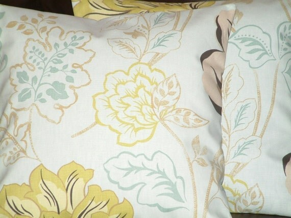 "2 New 16"" Chic Duck Egg Blue Funky Designer Retro Pillowcases,Cushion Covers,Pillows,decor pillow"
