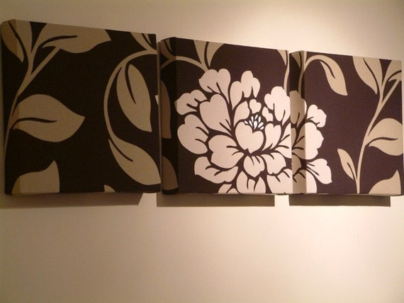 Set of 3 contemporary modern designer retro print design funky for Funky wall art