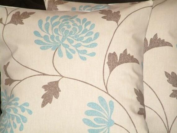 "2 18"" Contemporary Modern Duck Egg Blue Designer Retro Cushion Covers,Pillowcases,Pillow Covers, Pillowshams,Throw Pillow,NEW FABRIC"