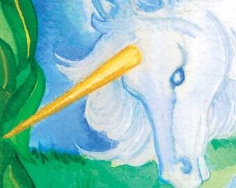 Unicorn Original Painting  Painting   horse  moon  fantasy  fairy  white  magic
