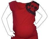 Skull Splat Maternity Tunic