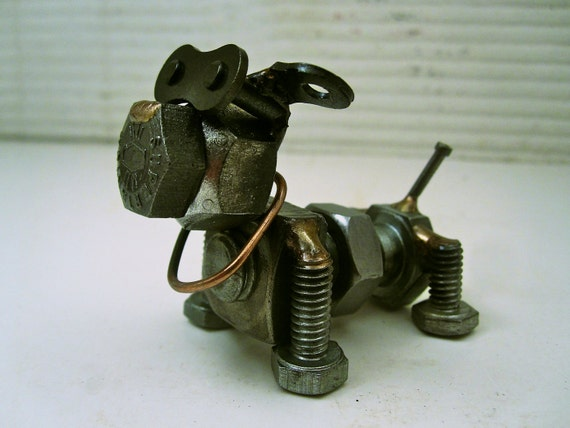 Bob Lee Swagger the Guard Dog metal sculpture