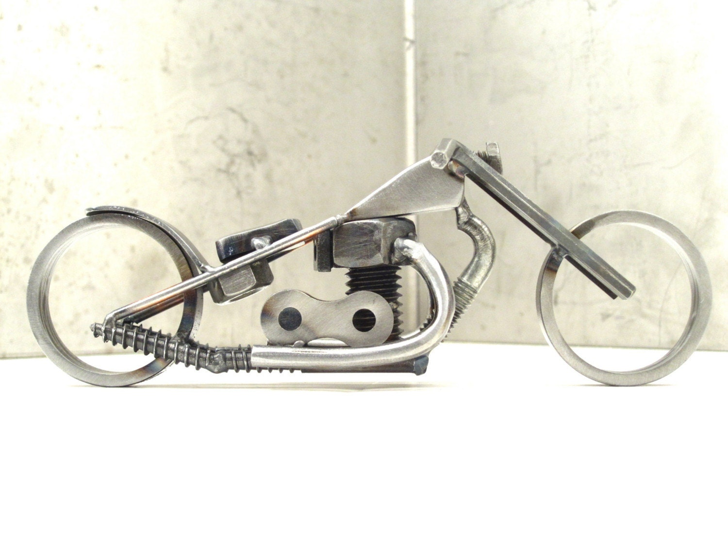 Scrap Metal Triumph Motorcycle Sculpture For Charity
