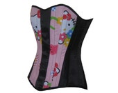 Your Size Hello Kitty Boned Corset Pink Overbust