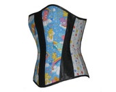 Your Size Care Bears Boned Corset Rainbow Overbust