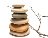 """RESERVED Beach Pebbles Stack - UNdrilled Natural Stones - Crafts Art Palette - """"Rockin' Retro"""" by StoneMe"""