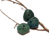 """Sea Slag Glass Beach Stones - Vintage Pebbles Beads for Jewelry Making - """"Blue Pine"""" by StoneMe"""