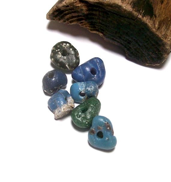 Leelanau Treasure - Genuine Drilled Beach Slag Stones - Glass Nuggets