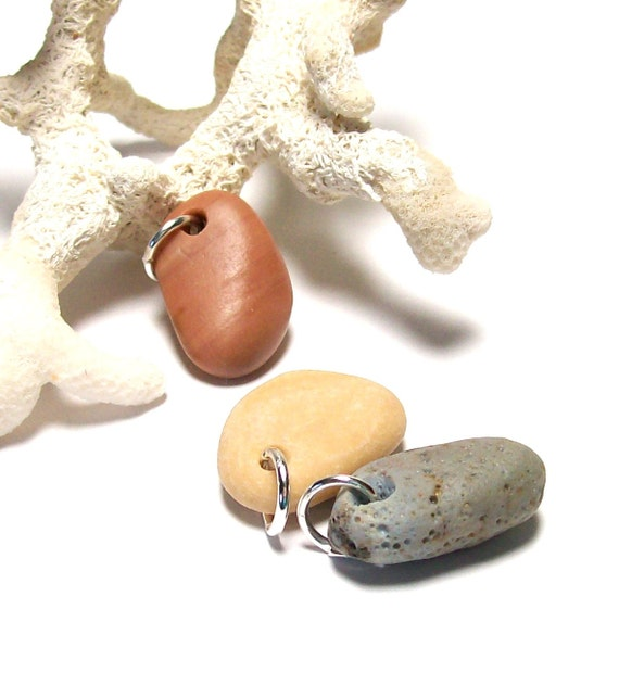 "Genuine Drilled Beach Stones - Slag Sea Glass - Pastels - Jewelry Beads - ""Pastel Palette"" by StoneMe"