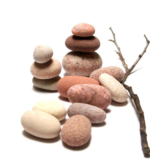 """Easter Eggs - Undrilled Beach Stones - Pebble Zen - Craft Carve Wrap Display - Organic Stock - """"Pink Collection"""" by StoneMe"""