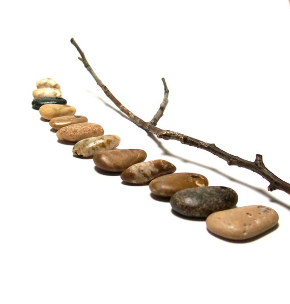 """Drilled Beach Stones Sale - Pebbles - focal jewelry beads - River Rocks - """"Crunchies"""" by StoneMe"""