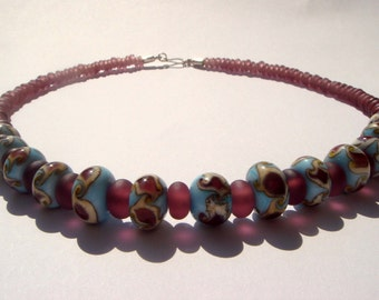 Purblue necklace-----free shipping------