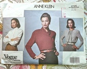 Anne Klein Womens Long Sleeve Blouse Pattern - Vogue 2725