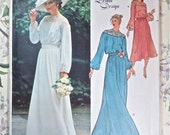 Vintage 1970s Belinda Bellville Womens Wedding Dress Pattern  - Vogue 2017