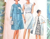 Simplicity 6387 - 1960s  Womens Dress and Coat Pattern