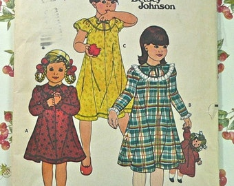 Vintage 1970s Betsey Johnson Girls Dress Pattern - Butterick 6177