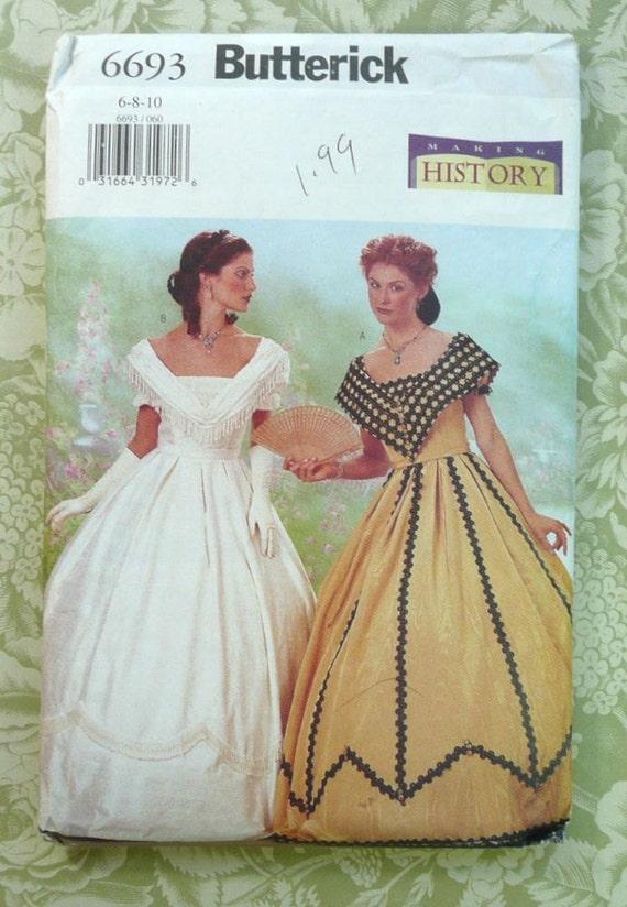 Women S Civil War 1860s Hoop Skirt Dress Pattern By Fragolina