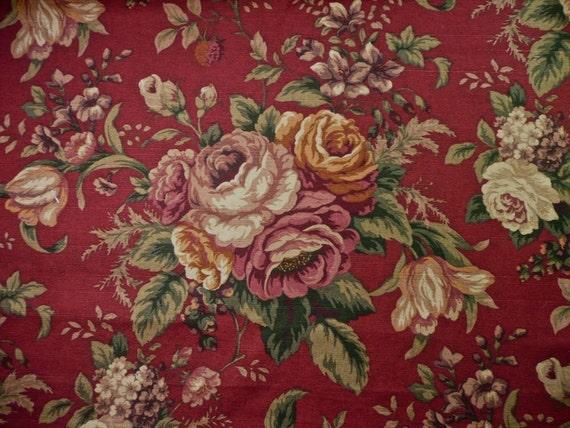 Raymond Waites Emmelino Burgundy Floral Cotton